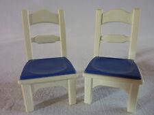 PLAYMOBIL accessoires maison hotel cuisine mobilier meuble tabouret 2 chaises