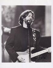 Eric Clapton signed 8 x 10 photo.