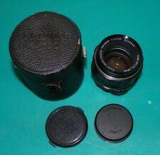 Asahi Pentax Super Multi Coated Takumar 50mm f/1.4 lens with case and caps