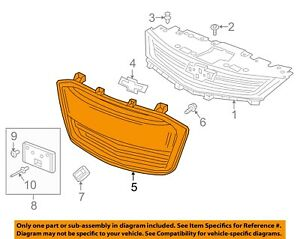Chevrolet GM OEM 17-18 Sonic Front Bumper-Lower Bottom Grille Grill 42496925