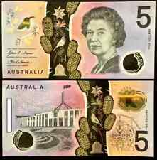 2016 AUSTRALIA NEW $5 NOTE - CONSECUTIVE SERIAL NUMBER PAIR (2 NOTES)!!!!