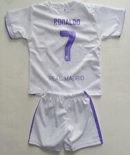 Kid's Real Madrid Home Soccer Uniform, New White Purple Sport 2016 Uniforme Sz 2