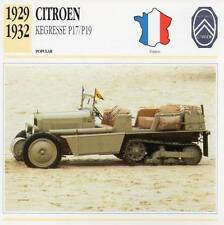 1929-1932 CITROEN KEGRESSE P17/P19 Classic Car Photograph/Information Maxi Card
