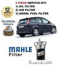 FOR FORD FOCUS C MAX 1.6 TDCi 6/2003-9/2005 SERVICE KIT OIL AIR FUEL FILTER