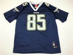 NFL Antonio Gates San Diego Chargers Football Jersey Youth Size Extra Large Blue