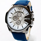 Fashion Men's Military Army Sport Watch Analog Quartz Dial Leather Wrist Watches