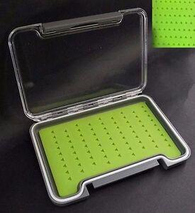 Slim Line Silicon Fliegenbox, Flybox, Fliegendose mit Silikoneinlage
