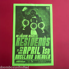 RESIDENTS 2000's Original 11x17 Concert Promo Poster. Portland, OR. MINT.