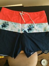 Billabong Platinum X tribong board shorts size 38 x 20 long , beach, surfing
