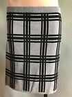 BNWT Ladies Sz S/10 Mix Brand Grey Checked Soft Stretch Knit Winter Mini Skirt