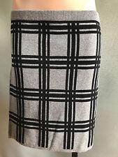 BNWT Ladies Sz S 10 Mix Brand Grey Checked Soft Stretch Knit Winter Mini Skirt