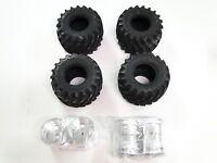 NEW TAMIYA SUPER CLODBUSTER CLOD BUSTER Tires & Wheels Set of 4 BULLHEAD TC17