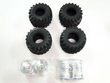 NEW TAMIYA SUPER CLODBUSTER CLOD BUSTER Tires & Wheels Set of 4 BULLHEAD TC17