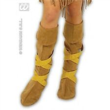 Indian Boot Covers Shoes for Native American Wild West Cowboys Fancy Dress