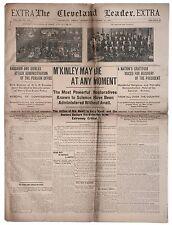 William McKinley Assassination Newspaper 1901 President