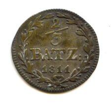 Suisse Canton de Schwyz Napoleonide 2/3 Batzen 1811 KM 56