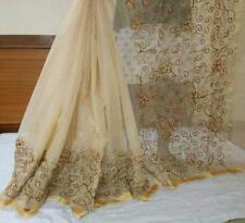 Bollywood New Kota Cotton Pearl Aari Work Indian Designer Saree Pakistani Sari