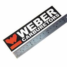 Weber carburetors laminated sticker black big