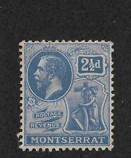 Montserrat 1922, 2½p Scott # 62 VF Lightly Hinged*OG ,nice color ! (BC-1)