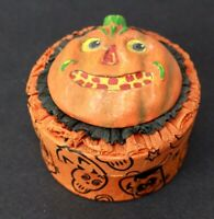 Halloween Acorn Cottage Antique Inspired JOL Candy Container David Bruce LTD ED