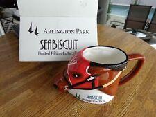 JERRY BAILEY BOBBLE HEAD and SEABISCUIT MUG ARLINGTON PARK NIB Free Shipping !!