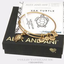 Authentic Alex and Ani Sea Turtle Rafaelian Gold Charm Bangle CBD