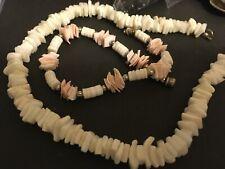 chip necklace and bracelet vintage estate demi shell