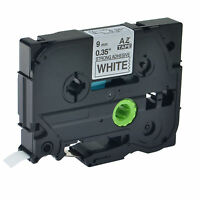 TZ-S221 TZe-S221 Black on White Strong Tape for Brother P-touch 9mm Label Maker