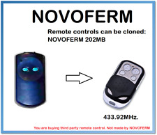 NOVOFERM Control Remoto Universal 202MB Duplicadora 4 canales 433.92MHz.