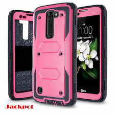 For LG K7 Tribute 5 Clip Holster Hard Case Cover W/Built-in Screen Protector