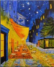 "Vincent Van Gogh ""Cafe Terrace at Night"", HD Print on canvas, For decor 20x30"""