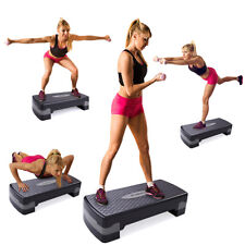 """New 27'' Fitness Aerobic Step Adjust 4"""" - 6""""Exercise Stepper w/Risers Home Gym"""