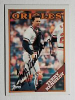 1988 Topps Terry Kennedy Auto Autograph Card Signed Orioles Padres Cardinals 180