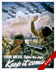 UNITED STATES SCRAP METAL WWII PROPAGANDA POSTER PAINTING REAL CANVASART PRINT