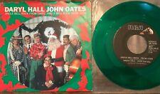 Daryl Hall John Oates Jingle Bell Rock FRom 45 DJ W Picture Sleeve Green Vinyl