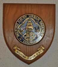 Milford Haven Urban District Council wall plaque shield crest coat of arms
