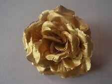10  GOLDENE  ROSEN  ,ROSENBLÜTEN IN GOLD  ,   6 cm bis 7 cm ! DEKO HOCHZEIT NEU