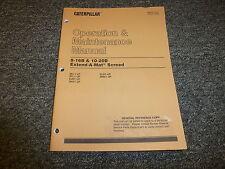 Cat Caterpillar 8-16B 10-20B Extend-A-Mat Screed Owner Operator Manual