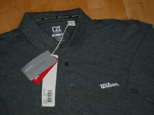 NWT WILSON Logo Golf Shirt By Cutter Buck Championship Polo Charcoal MCK01263 M