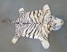 White Tiger Floor Kid's Play Mat Rug Plush Firm Head 4 Foot Long GUC Toy Kingdom