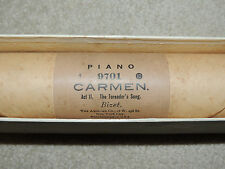 Aeolian Piano Player Roll Carmen Act II Toreador Song