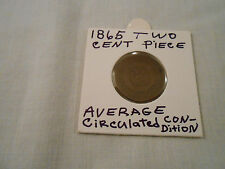 "COIN:USA: 1865 2 Cent Piece Coin/1st coin ""In God We Trust"" on coin/ Original"