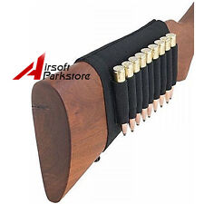 Tacitcal Elastic Butt Stock Rifle Shell Holder - 9 Cartridges Ammo Bullet Pouch