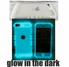 For iPod Touch 5th Generation - Clear GLOW IN THE DARK Hybrid Armor Case Cover