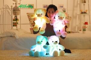 LED Stuffed Soft Kids Teddy Bear Light Up Glowing Gifts Led Plush Toy Colourful