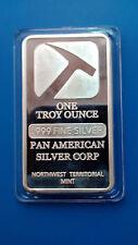 LINGOTE DE PLATA PURA PAN AMERICAN. 0.999/1000 ONE TROY OUNCE EN CAPSULA