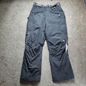 Helly Hansen Ski Snowboard Pants Gray Mens Size Large