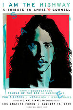 CHRIS CORNELL 12x18 I AM THE HIGHWAY TRIBUTE CONCERT POSTER AUDIOSLAVE VEDDER