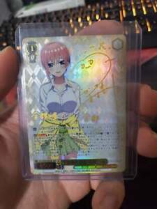 Signed Weiss Schwarz The Quintessential Quintuplets 5HY-W90-002 SSP Ichika FOIL