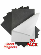 20 Pack | A4x0.4mm SELF ADHESIVE Sheet Magnets | Magnetic Sheet | Poster Card Me